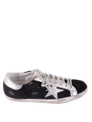 Golden Goose: trainers - Archive black calf hair sneakers
