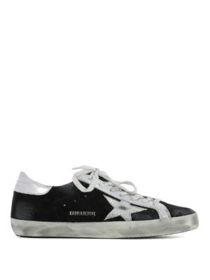 Golden Goose: trainers - Archive black suede sneakers