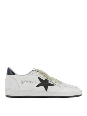 Golden Goose: trainers - Ball Star black detail sneakers