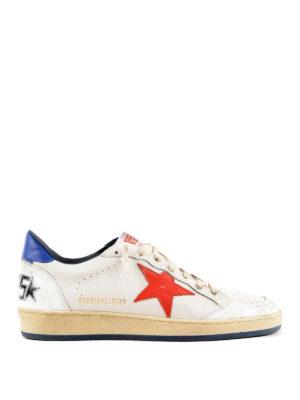 GOLDEN GOOSE: sneakers - Sneaker Ball Star con stella rossa