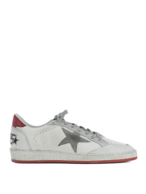 Golden Goose: trainers - Ball Star red detail sneakers