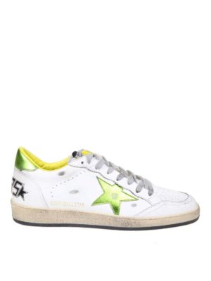 GOLDEN GOOSE: trainers - Ball Star sneakers in white