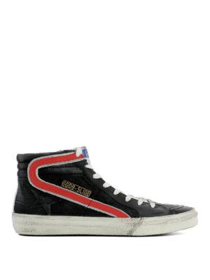 Golden Goose: trainers - Black suede Slide sneakers