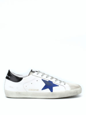 GOLDEN GOOSE: sneakers - Sneaker Superstar con stella bluette