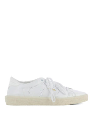 Golden Goose: trainers - Drilled leather Tennis sneakers
