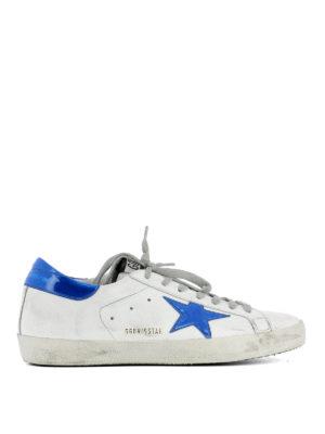 Golden Goose: trainers - Fluo blue Superstar sneakers