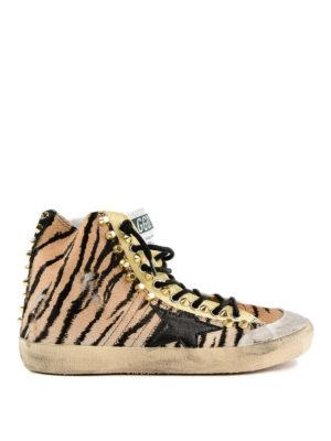 GOLDEN GOOSE: sneakers - Sneaker Francy stampa animalier e decorazione