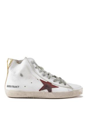 GOLDEN GOOSE: sneakers - Sneaker alte Francy inserto dorato