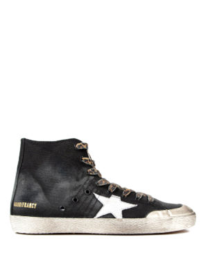 Golden Goose: trainers - Francy high top canvas sneakers