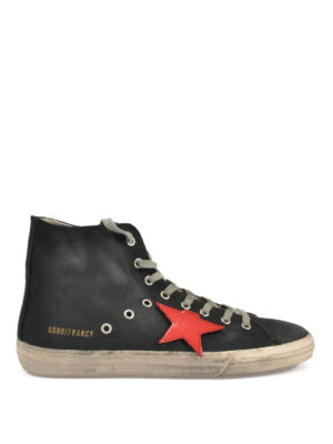 Golden Goose: trainers - Francy high top cotton sneakers