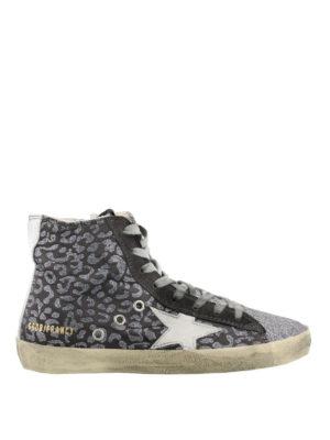 GOLDEN GOOSE: sneakers - Sneaker Francy in glitter animalier
