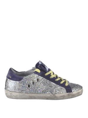 GOLDEN GOOSE: sneakers - Sneaker Superstar in pelle glitter