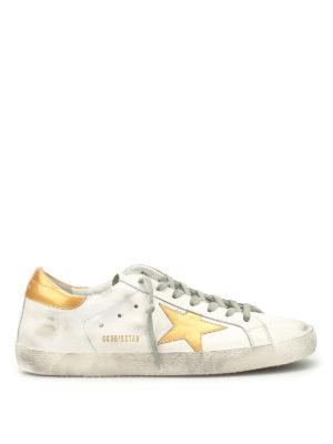 Golden Goose: trainers - Gold star Superstar sneakers