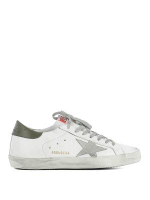 Golden Goose: trainers - Green insert Superstar sneakers