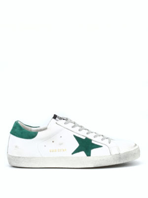GOLDEN GOOSE: sneakers - Sneaker Superstar con stella verde