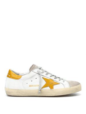 GOLDEN GOOSE: sneakers - Sneaker Superstar con stella gialla