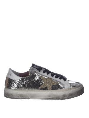 GOLDEN GOOSE: sneakers - Sneaker May in pelle craquelé