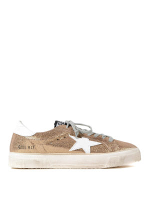Golden Goose: trainers - May crackle mirror leather sneakers