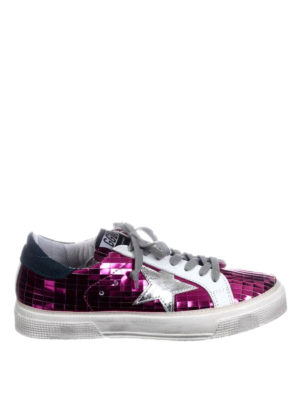 Golden Goose: trainers - May fuchsia leather sneakers