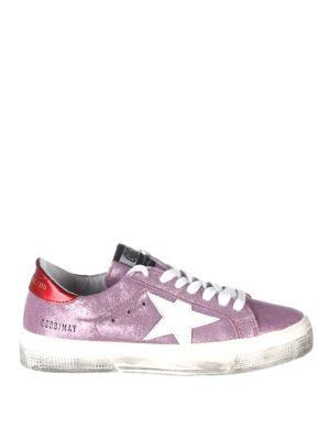 Golden Goose: trainers - May glittered leather sneakers