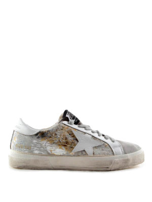 Golden Goose: trainers - May laminated haircalf sneakers