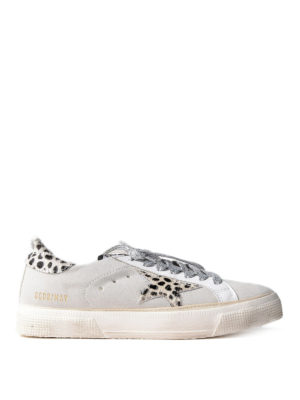 Golden Goose: trainers - May leo print detailed sneakers