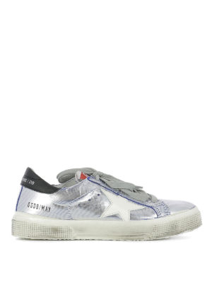 Golden Goose: trainers - May metallic leather sneakers