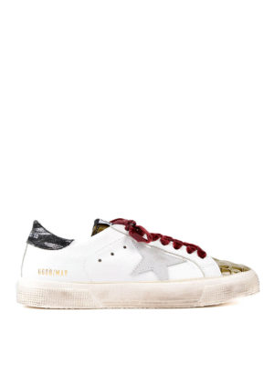 Golden Goose: trainers - May multi print leather sneakers