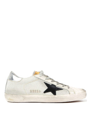 Golden Goose: trainers - Mesh and leather low top sneakers