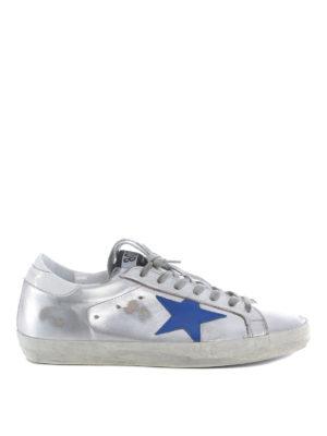 Golden Goose: trainers - Metallic leather Superstar sneakers