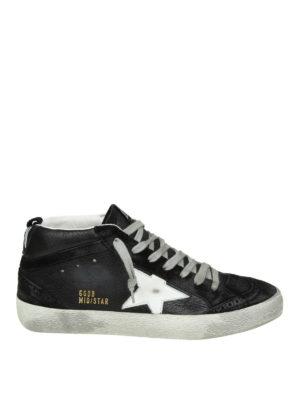 GOLDEN GOOSE: sneakers - Sneaker Mid Star con dettagli brogue