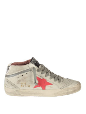 Golden Goose: trainers - Mid Star brogue off-white sneakers