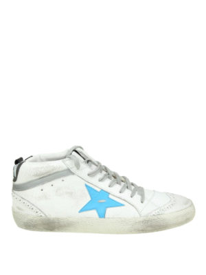 Golden Goose: trainers - Mid Star crackle leather sneakers
