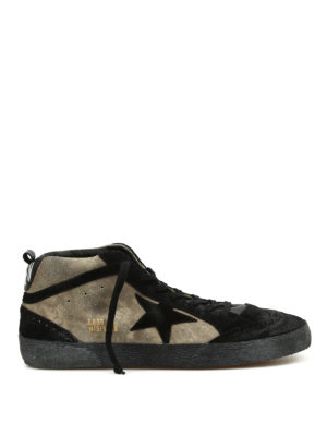 Golden Goose: trainers - Mid Star two-tone suede lace-ups