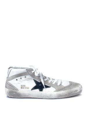 Golden Goose: trainers - Mid Star used effect suede lace-ups