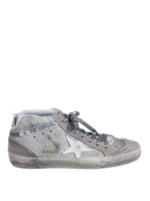 Golden Goose: trainers - Mid Star zebra-striped sneakers