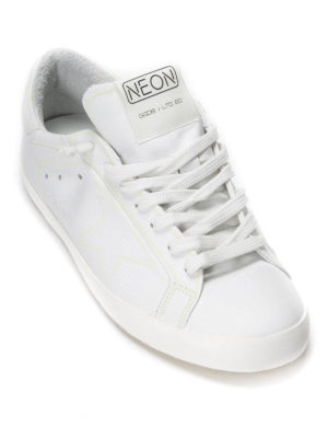 Golden Goose: trainers - Neon Super Star  leather sneakers