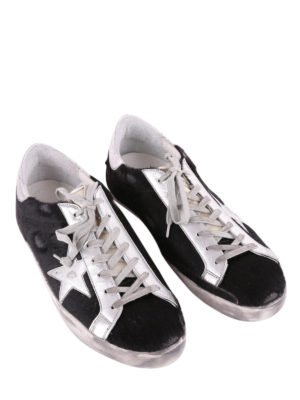 Golden Goose: trainers online - Archive black calf hair sneakers