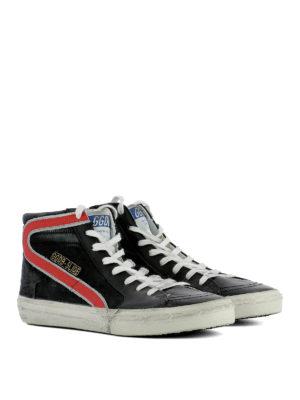 Golden Goose: trainers online - Black suede Slide sneakers