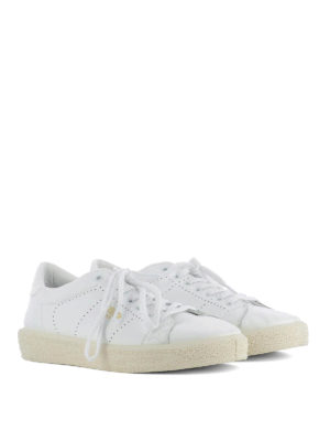 Golden Goose: trainers online - Drilled leather Tennis sneakers