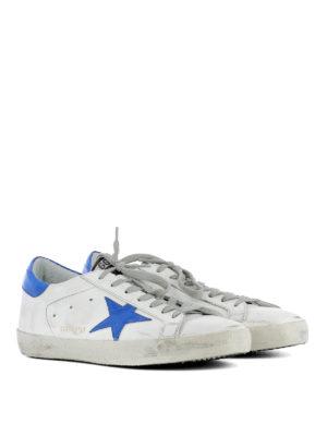 Golden Goose: trainers online - Fluo blue Superstar sneakers