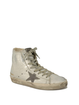 Golden Goose: trainers online - Francy crackle leather sneakers