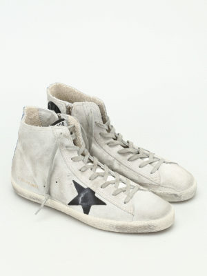 Golden Goose: trainers online - Francy high top suede sneakers