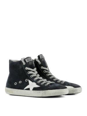 Golden Goose: trainers online - Francy navy leather sneakers