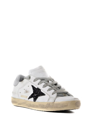 Golden Goose: trainers online - Glitter patch Superstar sneakers