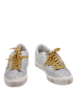 Golden Goose: trainers online - Glittered leather sneakers
