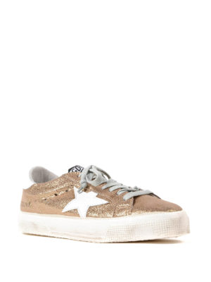 Golden Goose: trainers online - May crackle mirror leather sneakers