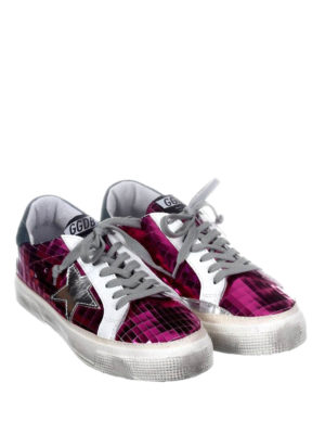 Golden Goose: trainers online - May fuchsia leather sneakers
