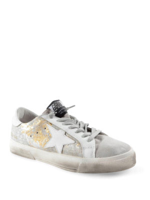 Golden Goose: trainers online - May laminated haircalf sneakers