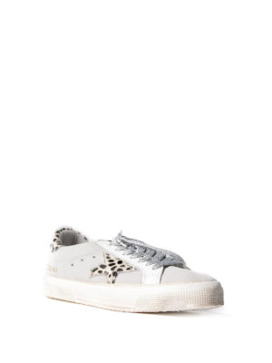 Golden Goose: trainers online - May leo print detailed sneakers